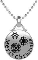 Generic Fashion Silver Merry Christmas Snowflake Pendant Necklace Chain