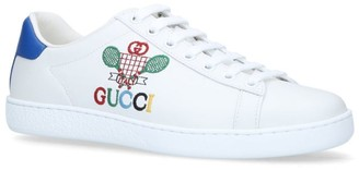 Gucci Leather Tennis Ace Sneakers