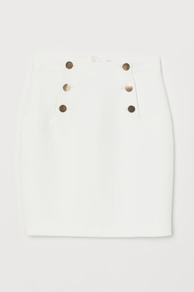 H&M Knee-length Skirt - White