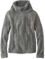 L.L. Bean Signature Alpaca-Blend Sweater, Cowlneck