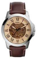 Fossil Men's ME3122 Grant Chronograph Dark Brown Leather Watch