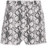 Frame Le Mini Python Denim Skirt