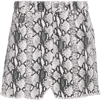 Frame Le Mini Python Denim Skirt
