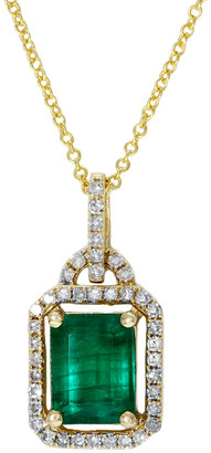 Effy Fine Jewelry 14K 1.58 Ct. Tw. Diamond & Emerald Pendant