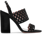 Tabitha Simmons Ilma Laser-cut Suede Slingback Sandals - Black