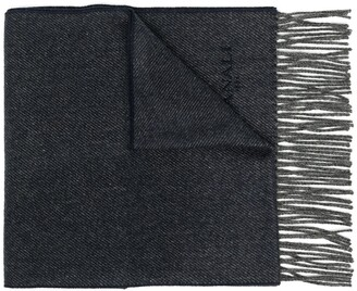 Canali Contrast-Trimmed Knitted Scarf