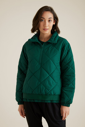 Seed Heritage Quilted Zip Puffer