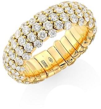 Zydo Stretch 18K Yellow Gold & Diamond Ring