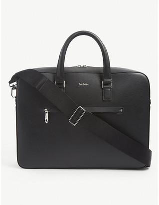 Paul Smith Signature leather folio satchel