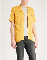 The Kooples Sunrise-embroidered Fitted Poplin Shirt