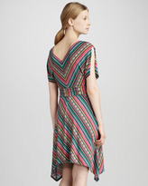 Phoebe Couture Printed Cold-Shoulder Dress