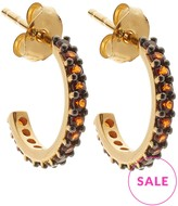 Lola Rose Garnet Small Hoop Earrings