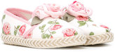 MonnaLisa floral print espadrilles - kids - Cotton/Leather/Canvas/rubber - 25
