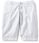 Classic Little Girls Bermuda Shorts-White
