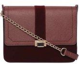 Dorothy Perkins Womens Burgundy Velvet Cross Body Bag- Red