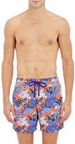 Vilebrequin Men's Floral- & Bird-Print Swim Trunks