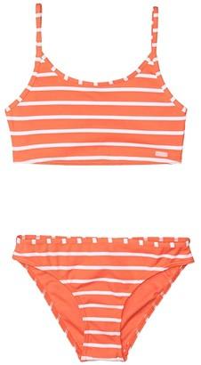 Roxy Kids Kinda Savage Tank Top Set (Big Kids) (Deep Sea Coral) Girl's Swimwear Sets