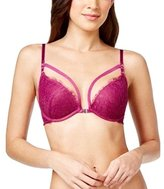 Maidenform MFB105 Underwired Front Fastening Padded Plunge Push Up Lace Bra
