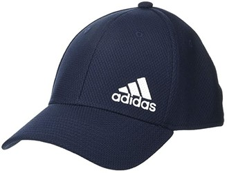 adidas Release II Stretch Fit Structured Cap (Black/White) Baseball Caps
