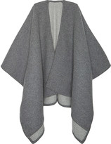 Johnstons Solid reversible wool-cashmere cape