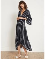Faithfull The Brand Carioca Wrap Maxi Dress