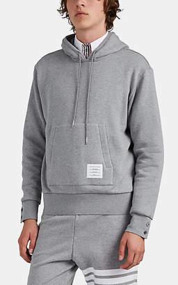 Thom Browne Men's Stripe-Detailed Cotton Hoodie - Light Gray