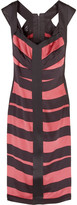 Striped silk pencil dress