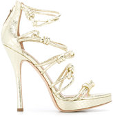 Alberta Ferretti knotted stiletto sandals