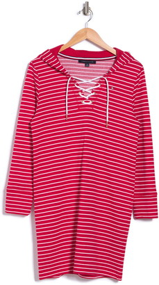 Tommy Hilfiger Lace Up French Terry Sweater