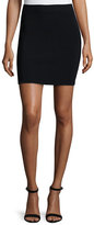 Alexander Wang Knit A-Line Skirt, Black