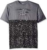 Rocawear Men's Contrast Color Como with Paint Sploth Short Sleeve Crew Neck