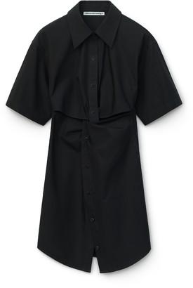 Alexander Wang Poplin Mini Shirt Dress