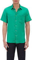 Aspesi MEN'S SHORT-SLEEVE SHIRT-GREEN SIZE 42