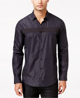 INC International Concepts Men's Joyous Pieced Stripe Long-Sleeve Shirt, Only at Macy's