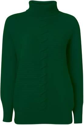 Wallis Green Stitch Detail Jumper