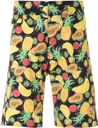 AMIR SLAMA Fruit Print Swim Shorts