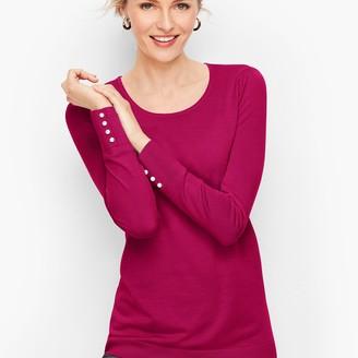 Talbots Gathered Shoulder Merino Sweater