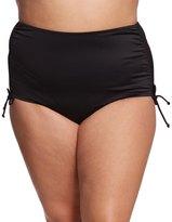Caribbean Joe Plus Size Solid Adjustable Side Bikini Bottom 8153860