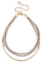 Sole Society Braided Leather Necklace