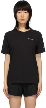 Champion Reverse Weave Black Script Logo Back T-Shirt