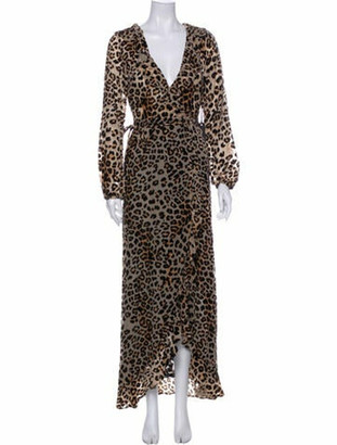 House Of Harlow Animal Print Long Dress w/ Tags Brown