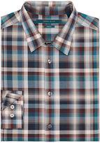 Perry Ellis Exploded Plaid Pattern Shirt
