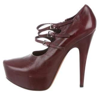 Alaia Leather Mary Jane Pumps