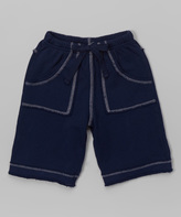Flap Happy Navy French Terry Shorts - Infant Toddler & Boys