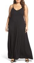 Loveappella Plus Size Women's A-Line Maxi Dress