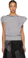 Junya Watanabe Black and White Skewed T-Shirt