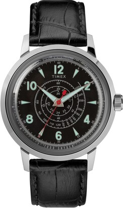 Timex x Todd Snyder Beekman Leather Strap Watch, 40mm