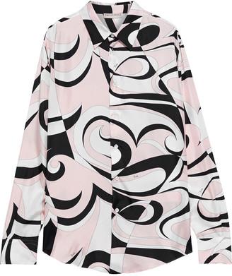 Emilio Pucci Printed Silk-twill Shirt