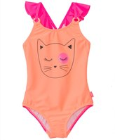 Seafolly Girls' Memphis Meow Tank One Piece Swimsuit (2yrs6yrs) - 8133203