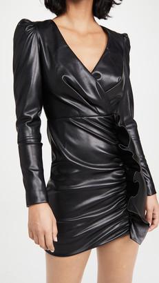Jonathan Simkhai Catalina Vegan Leather Mini Dress